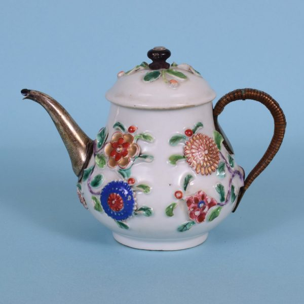 Chinese Export teapot with make do repairs