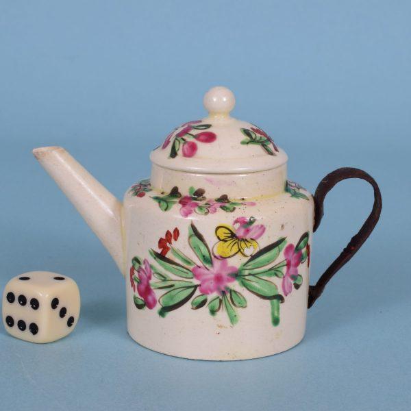Creamware Toy Teapot.