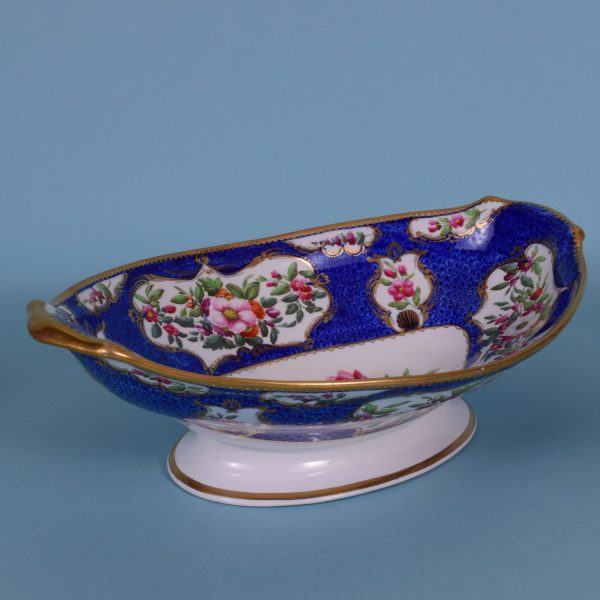 Coalport Scale Blue Comport.