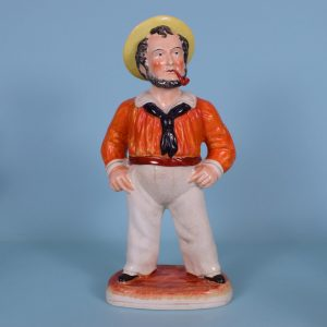 Victorian Staffordshire Figure of a Sailor