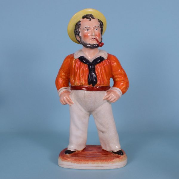 Victorian Staffordshire Figure of a Sailor