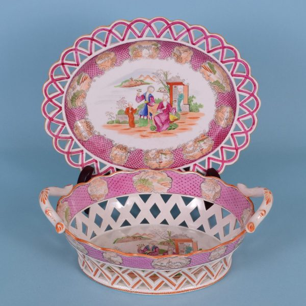 Chinoiserie Basket & Stand