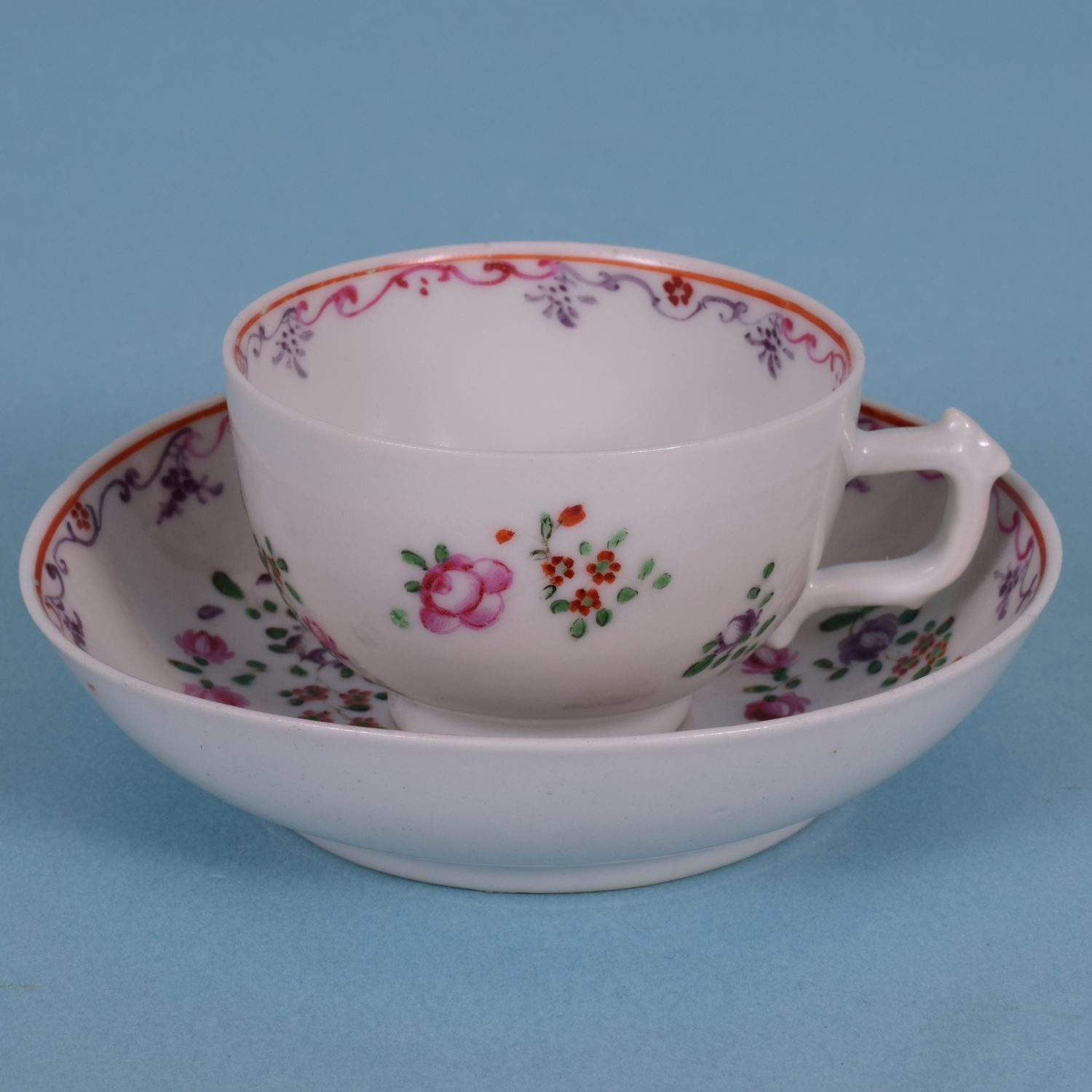 Chinese Export  Small Teacup & Saucer (a)