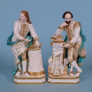 Derby Figures of Shakespeare & Milton