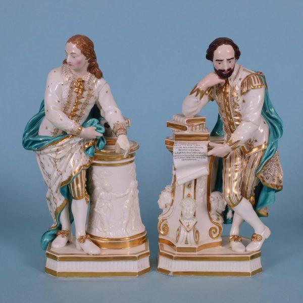 Derby Figures of Shakespeare & Milton