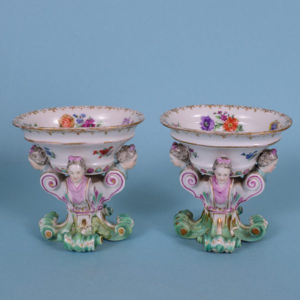 Pr Continental Porcelain salts (af)