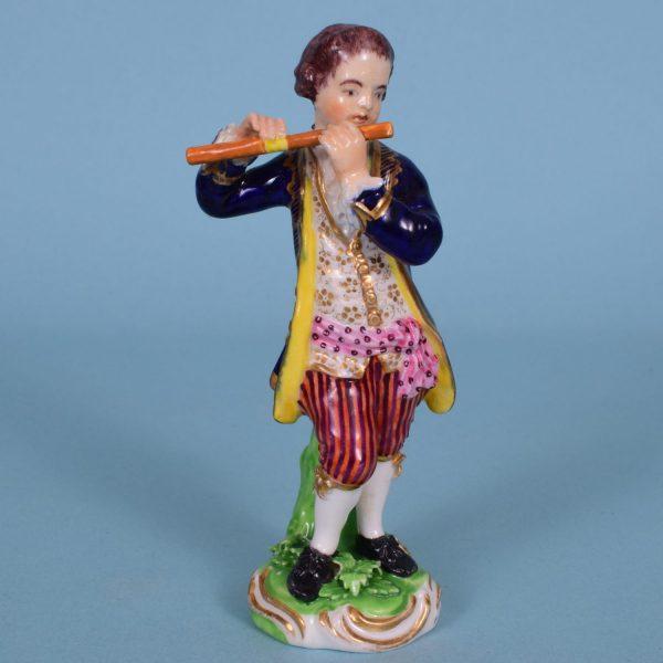 Bloor Derby Figure of a Flautist.