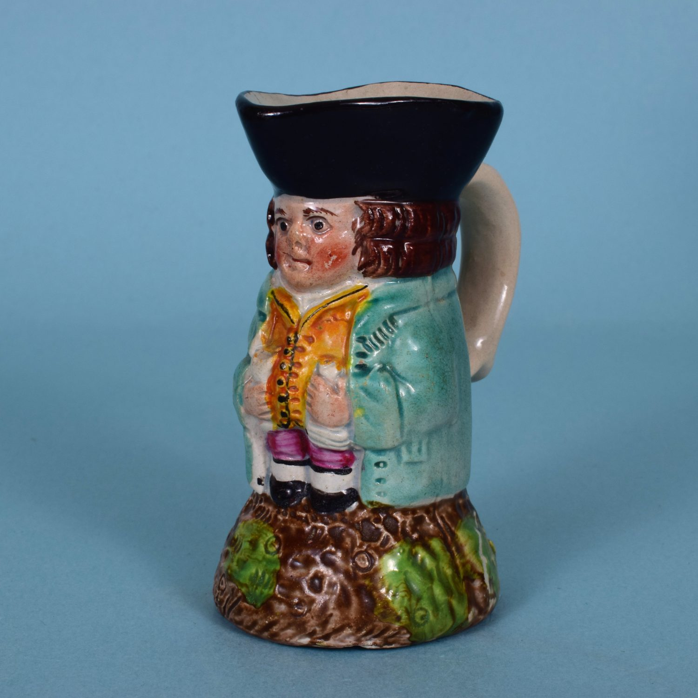 Staffordshire Pottery Miniature Toby Jug.