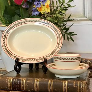 Wedgwood Creamware Miniature Platter + 2