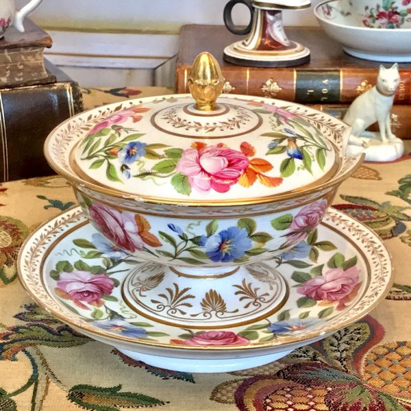 English Porcelain Sauce Tureen