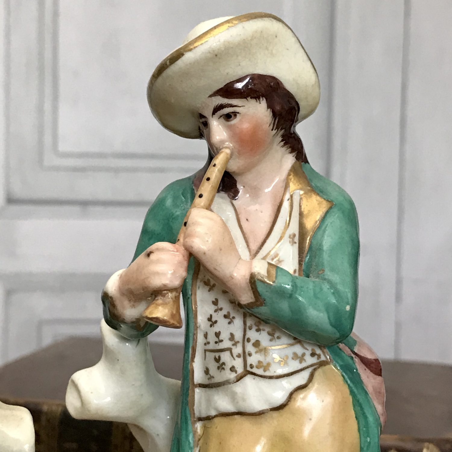 Pair of Staffordshire Figure of Musicians.