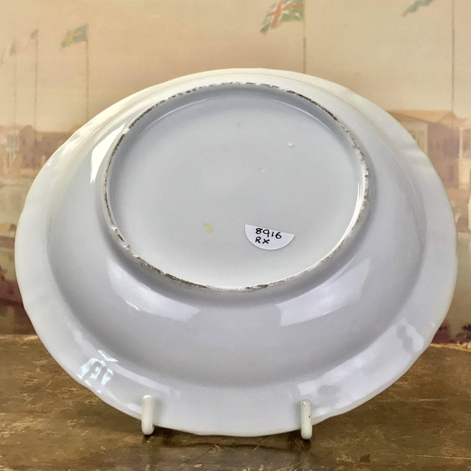 Chinese Export Porcelain Blue & White Deep Dish.