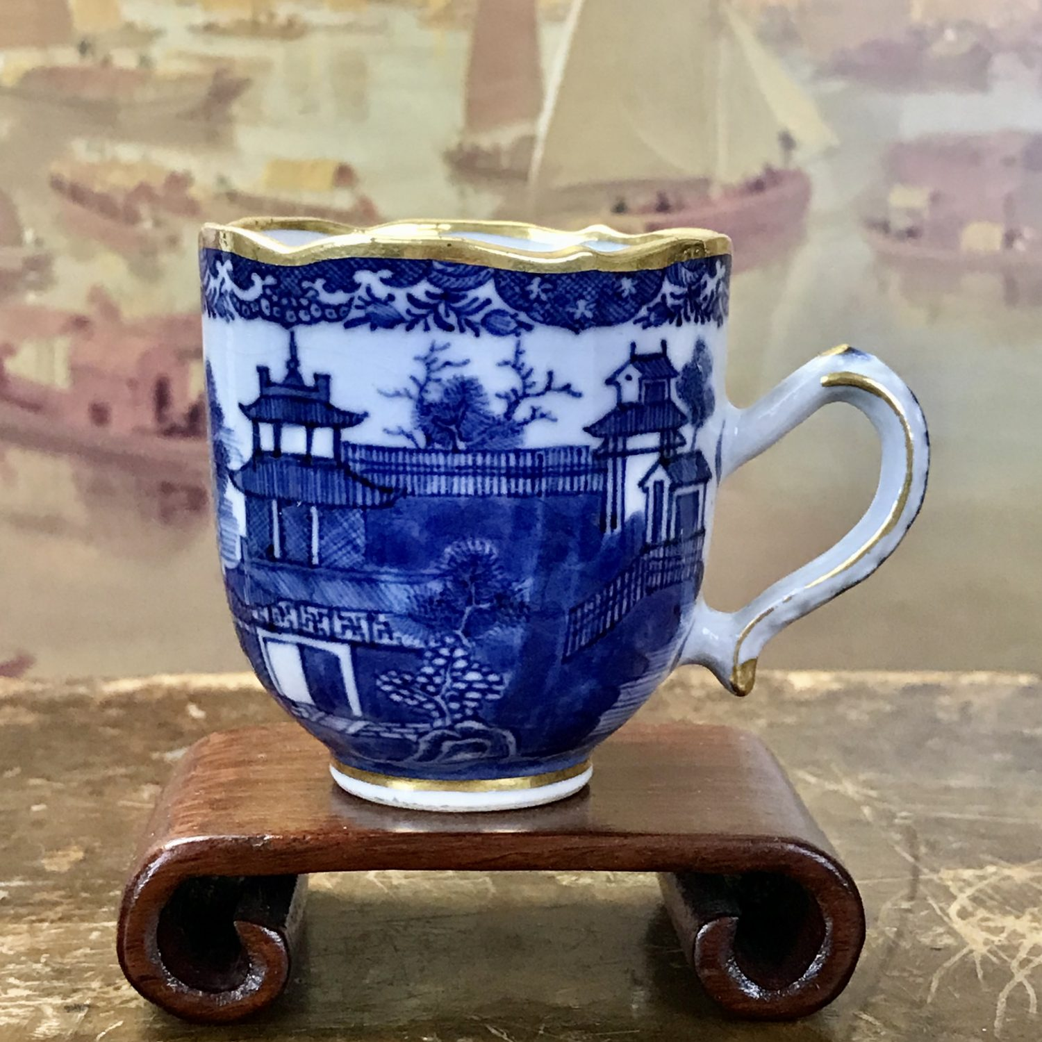 C18th Chinese Export Blue & White Coffee Cup.