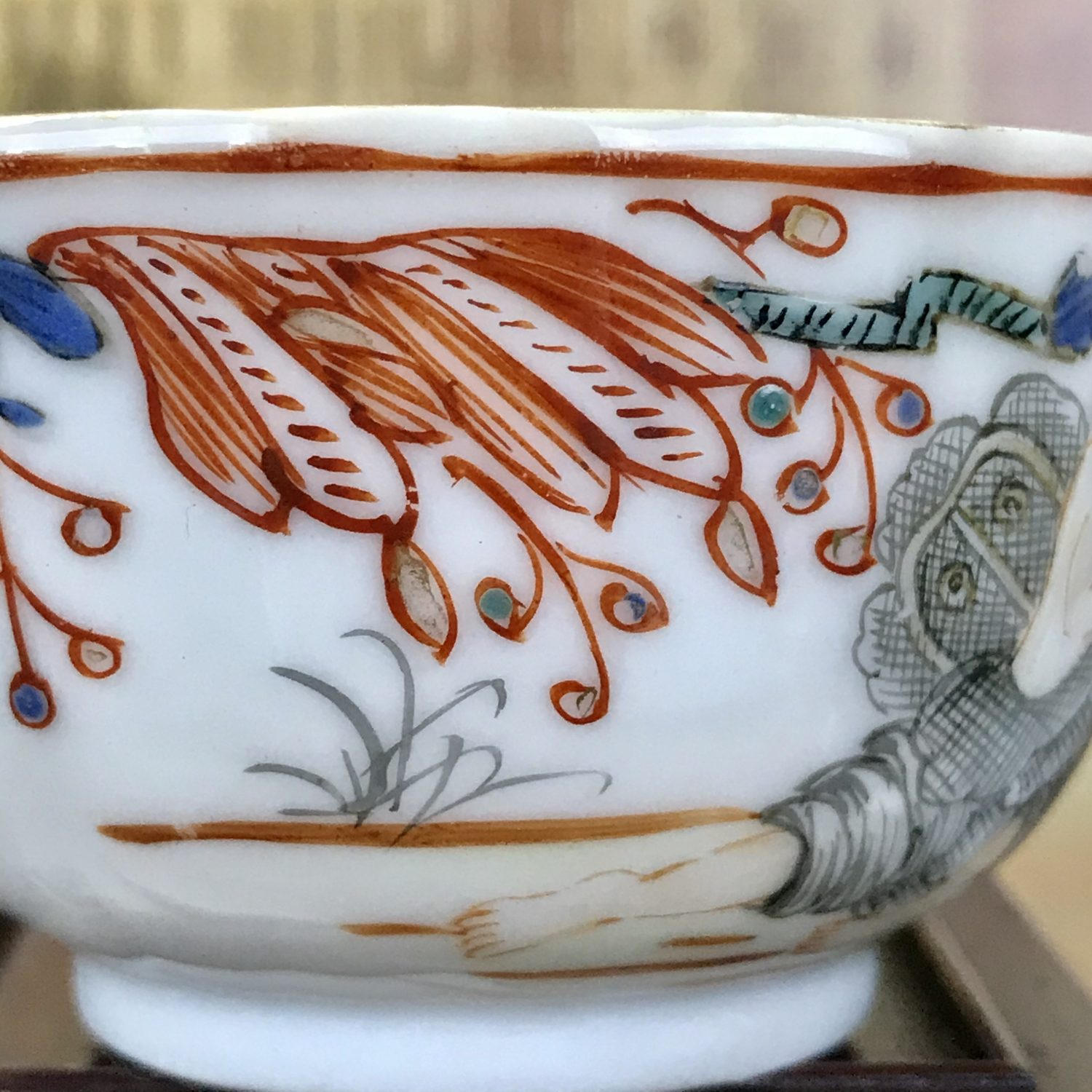 Chinese Export Porcelain 'Zephyr and Flora' Teabowl.