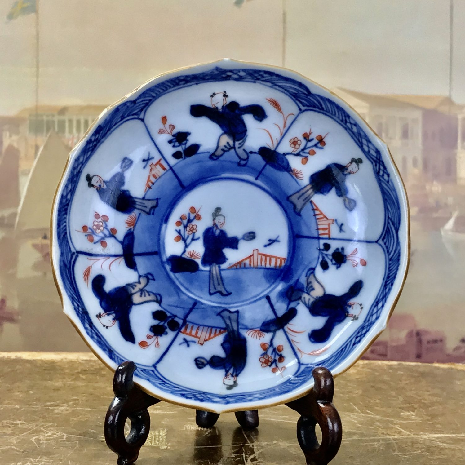 Chinese Export Porcelain Saucer, c1750.