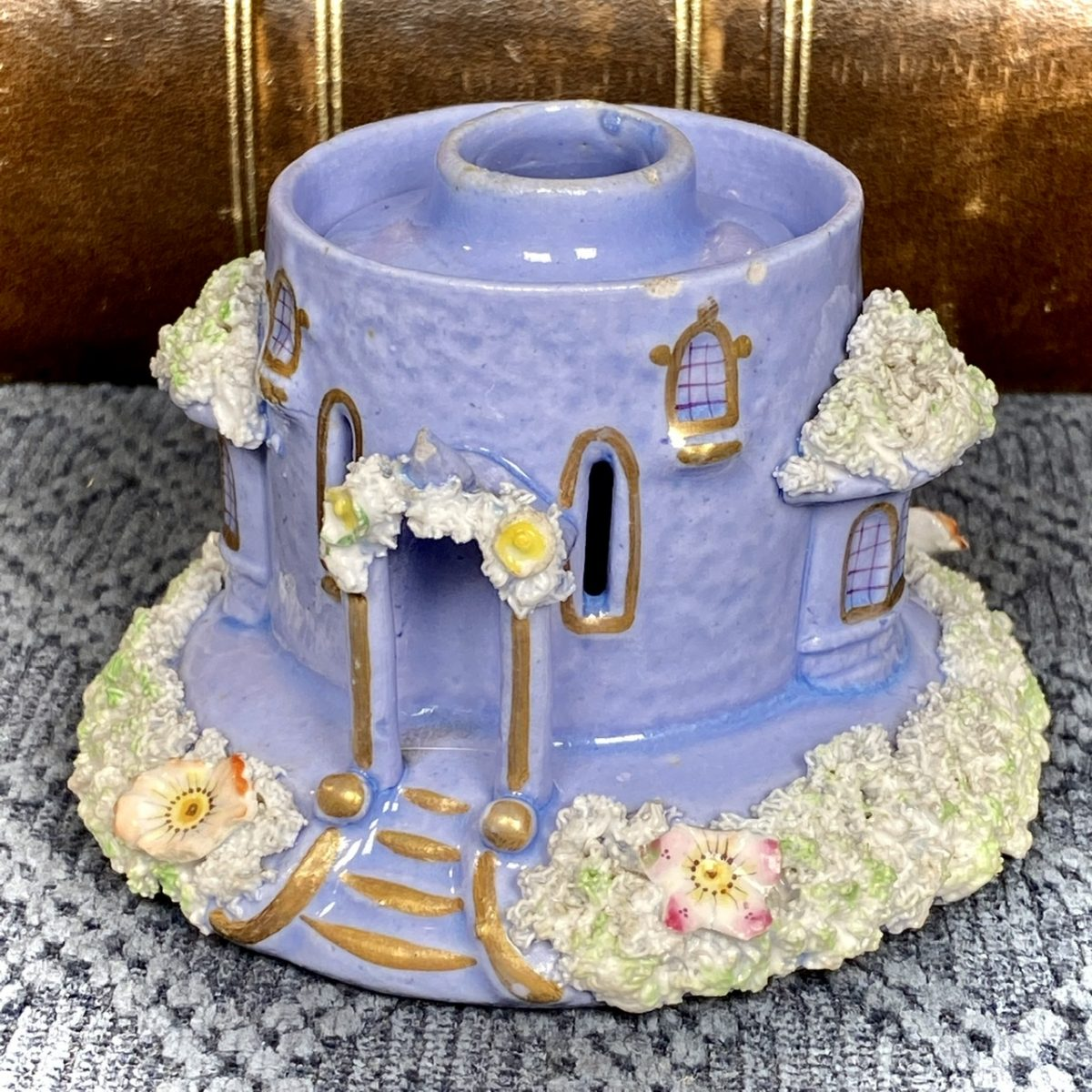 Staffordshire Porcelain Lavender Cottage Base.