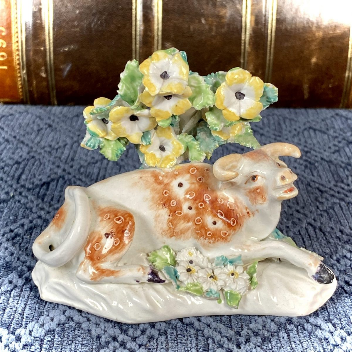C18th Derby Porcelain Model of a Cow