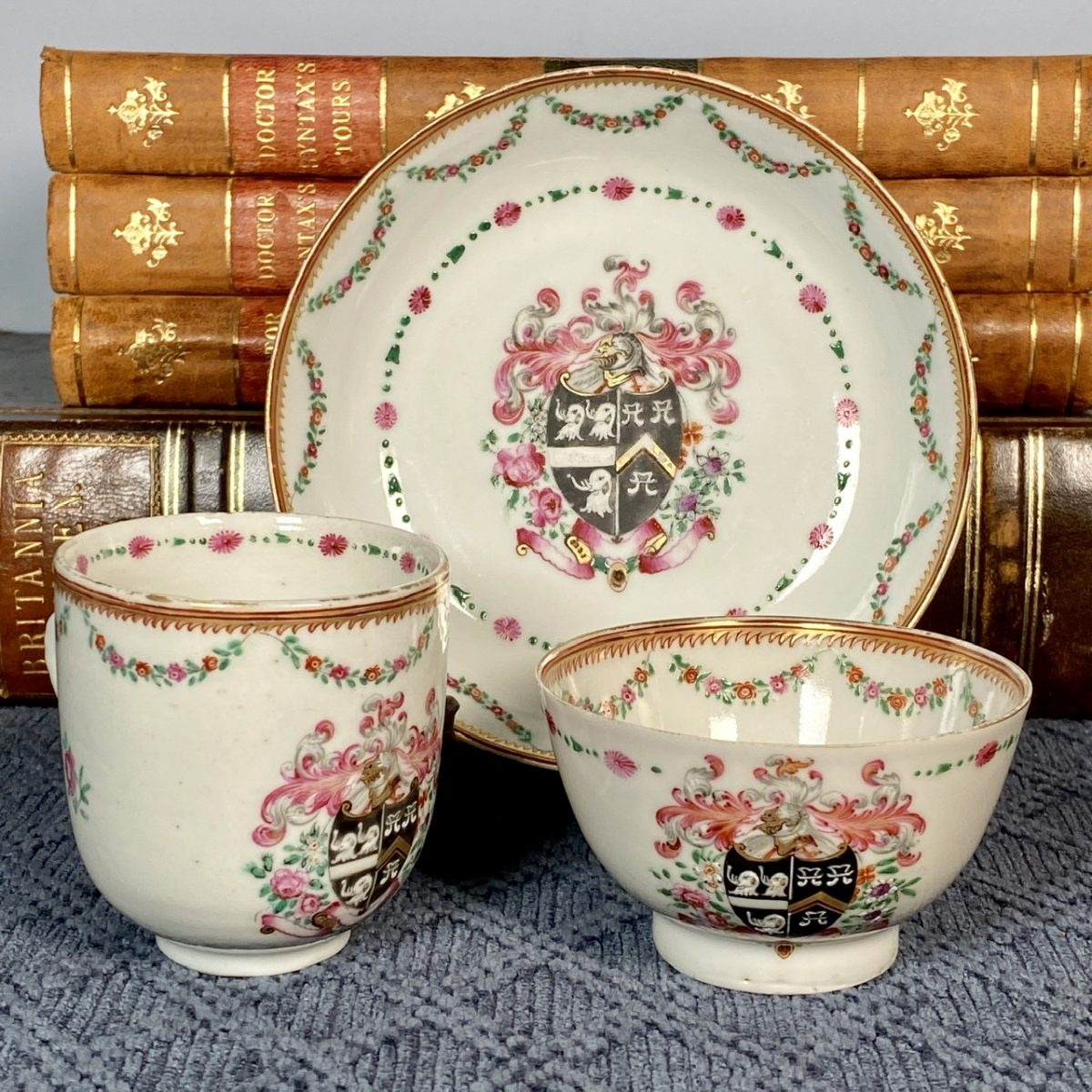 Chinese Export Porcelain Armorial Trio