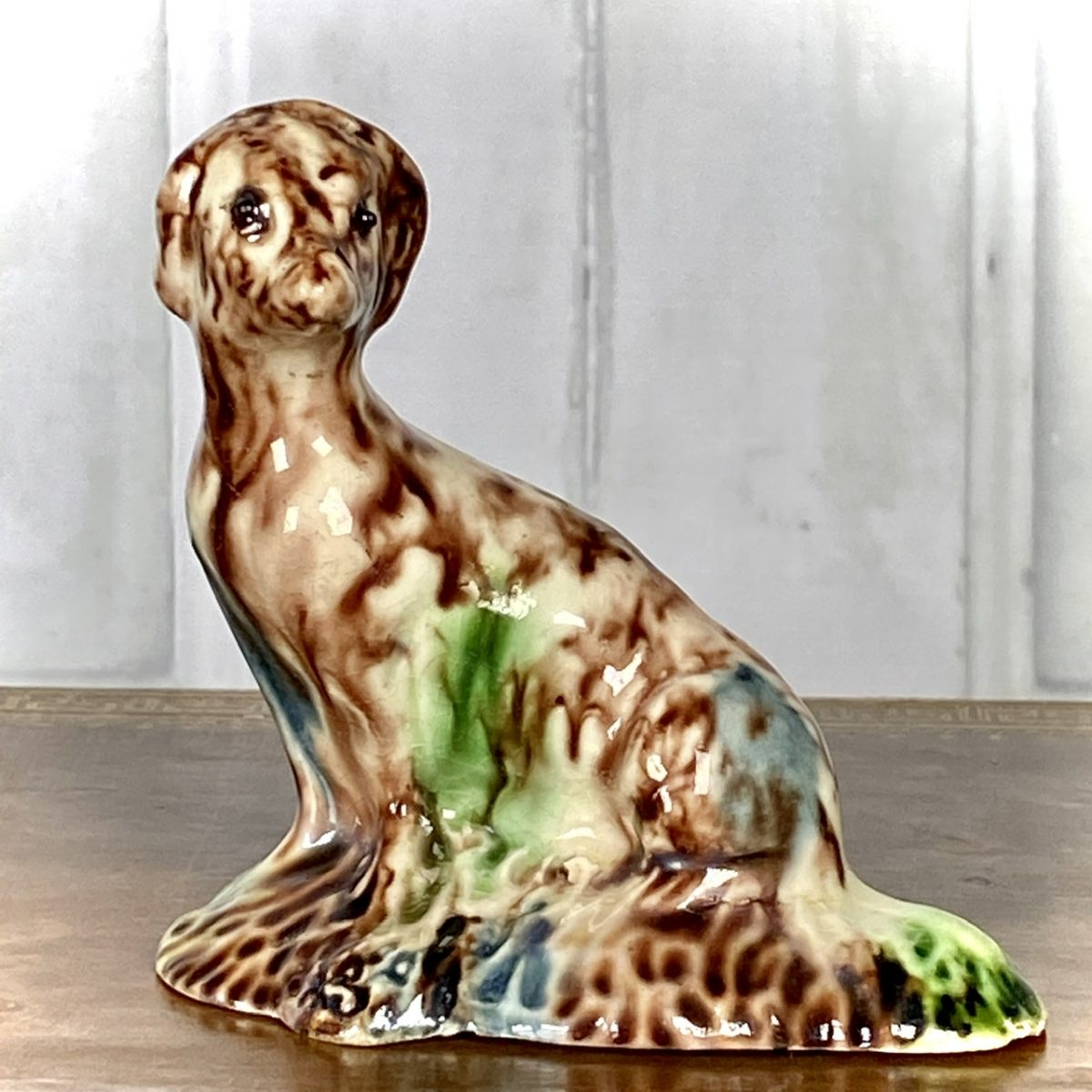 C18th Staffordshire Pottery Model of a Dog, Whieldon Type