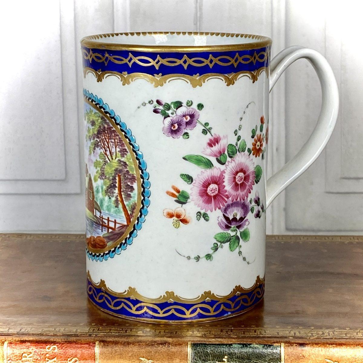 C18th Worcester Porcelain Dalhousie Pattern Mug.