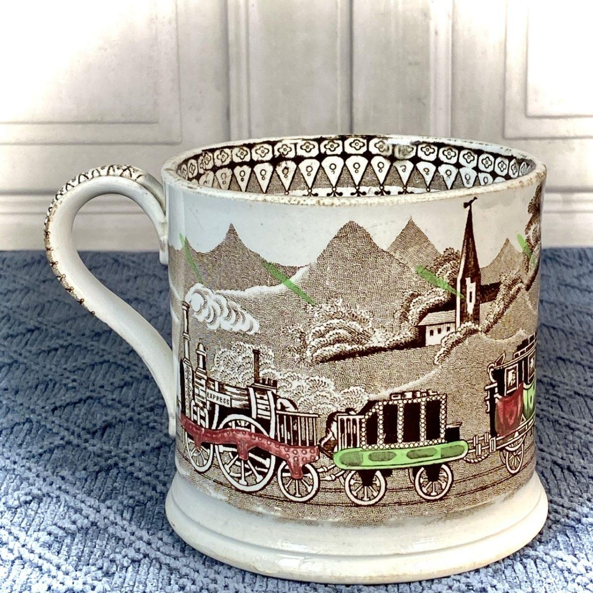 Staffordshire Pottery 'Railway' Mug.