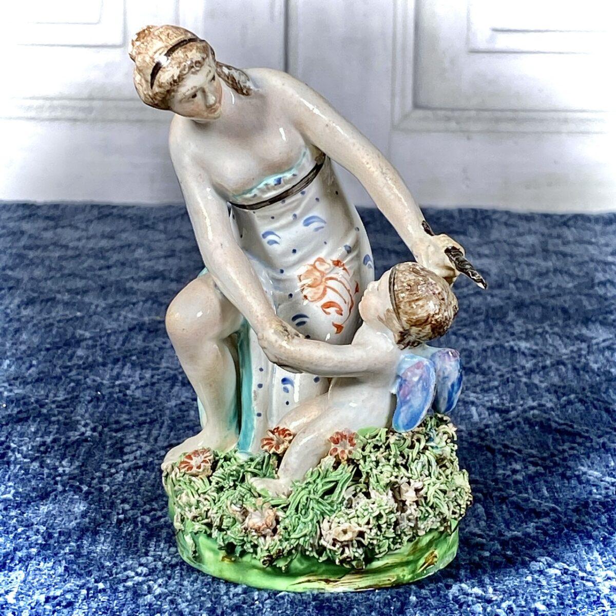 Staffordshire Figure of Venus & Cupid.