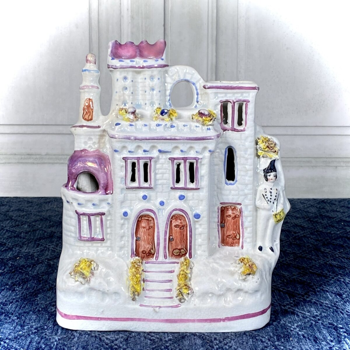 Staffordshire Pink Lustre Castle.