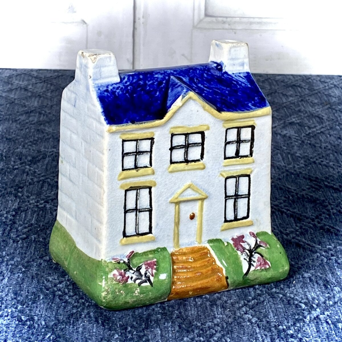 Staffordshire Pearlware Cottage Money Box.