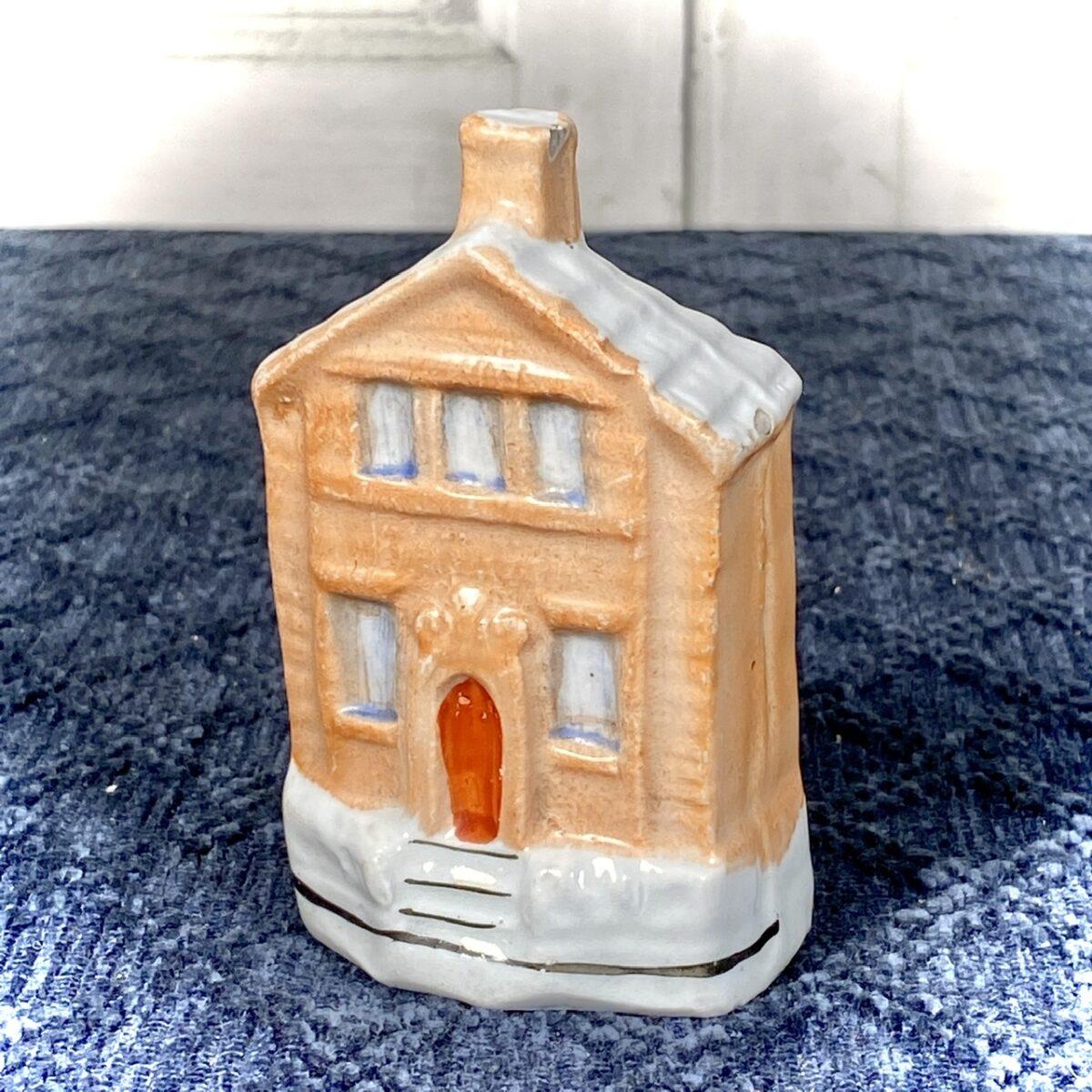 Victorian Staffordshire Cottage Money Box.